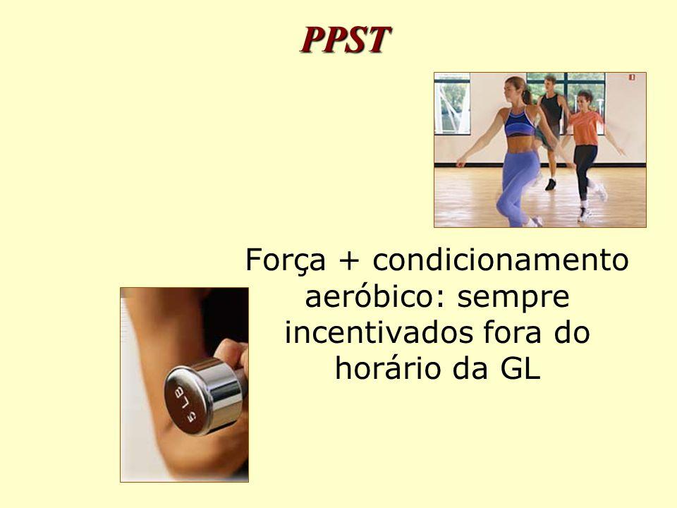 PPST Força + condicionamento aeróbico: sempre incentivados fora do horário da GL