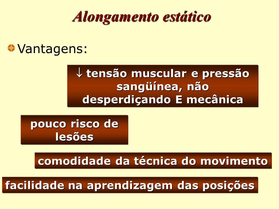  tensão muscular e pressão sangüínea, não desperdiçando E mecânica
