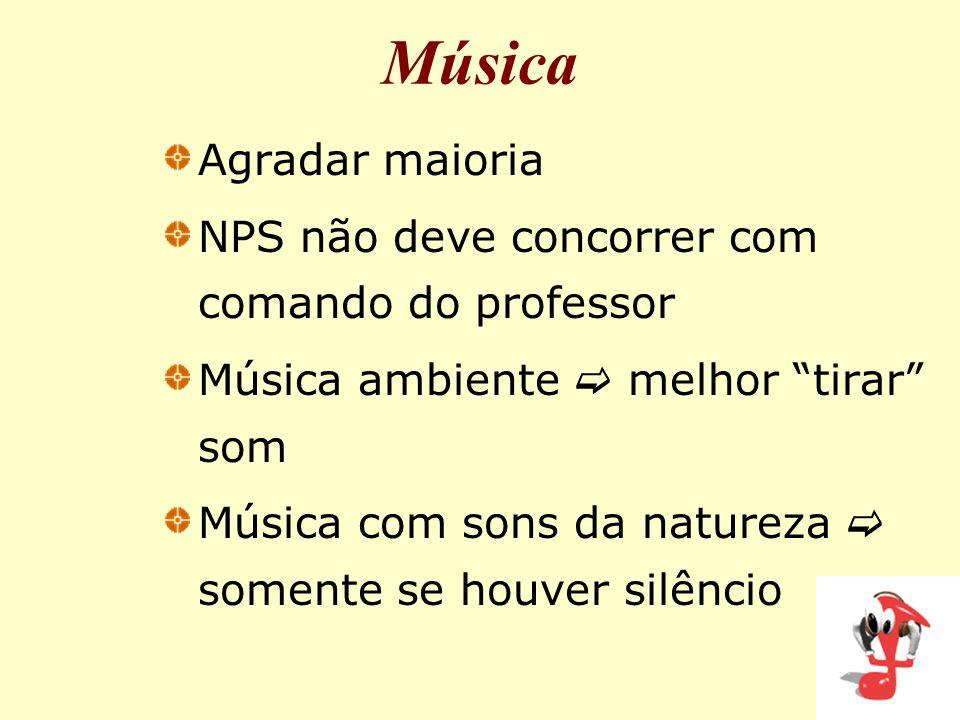 Música Agradar maioria NPS não deve concorrer com comando do professor