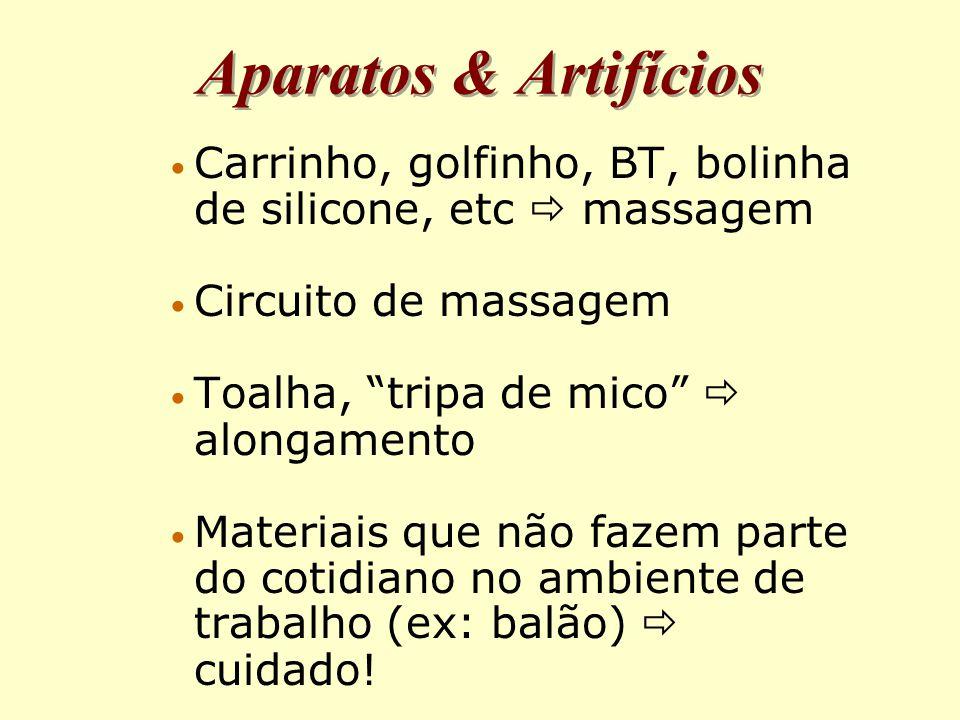 Aparatos & Artifícios Carrinho, golfinho, BT, bolinha de silicone, etc  massagem. Circuito de massagem.