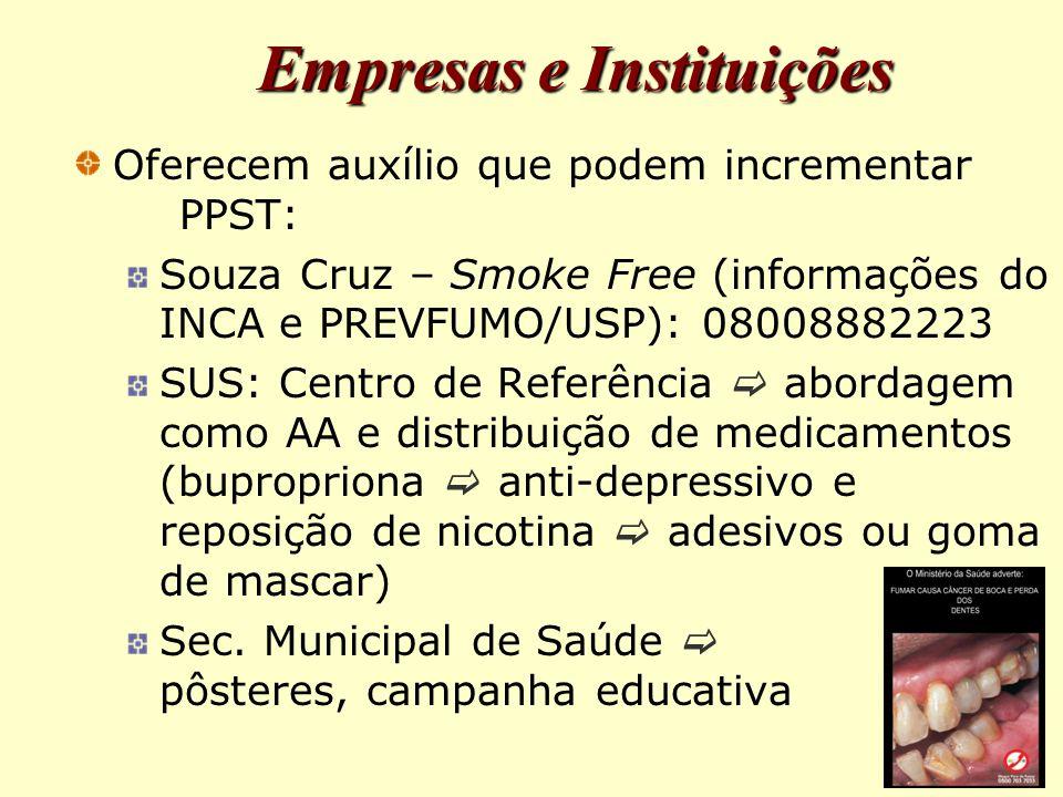 Empresas e Instituições