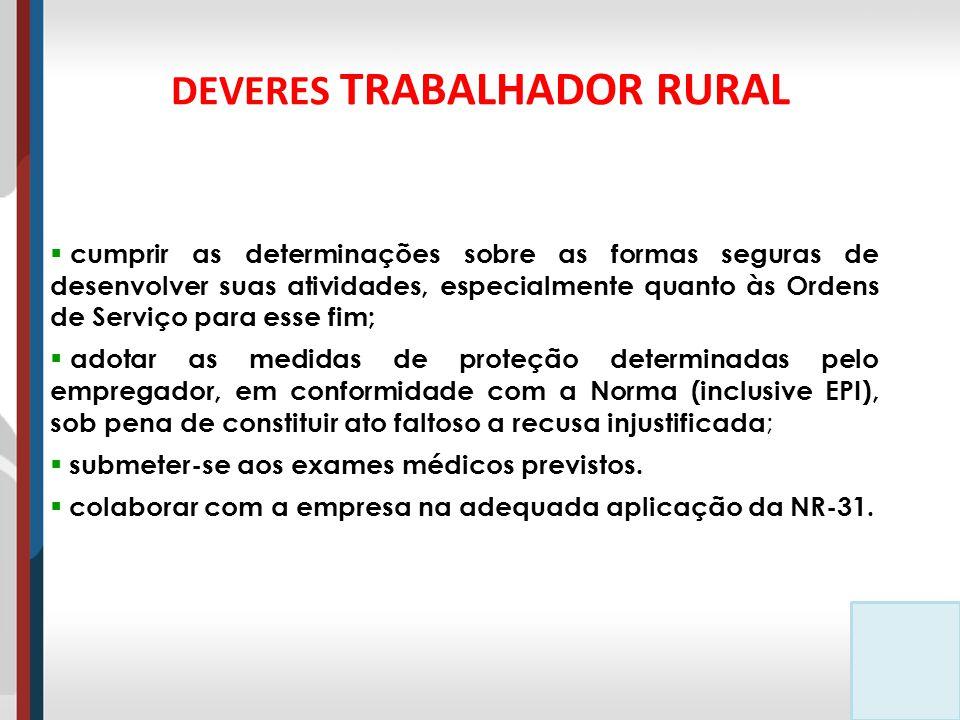 DEVERES TRABALHADOR RURAL