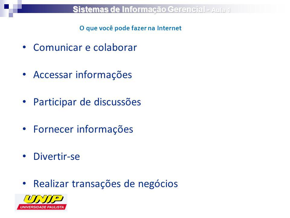 Sistemas de Informação Gerencial - Aula 1