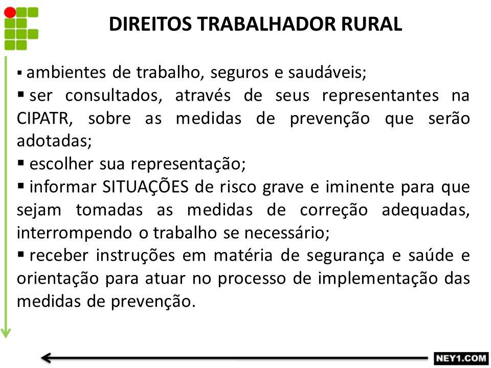 DIREITOS TRABALHADOR RURAL