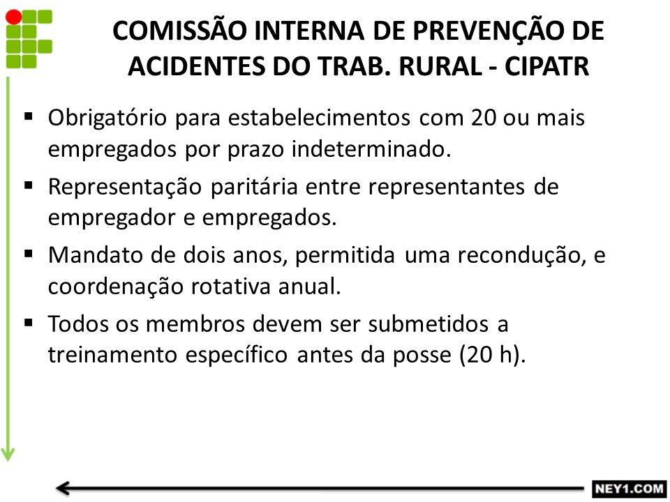COMISSÃO INTERNA DE PREVENÇÃO DE ACIDENTES DO TRAB. RURAL - CIPATR