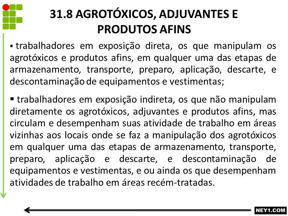31.8 AGROTÓXICOS, ADJUVANTES E