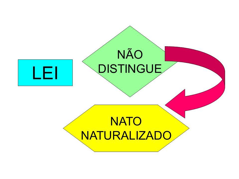 NÃO DISTINGUE LEI NATO NATURALIZADO