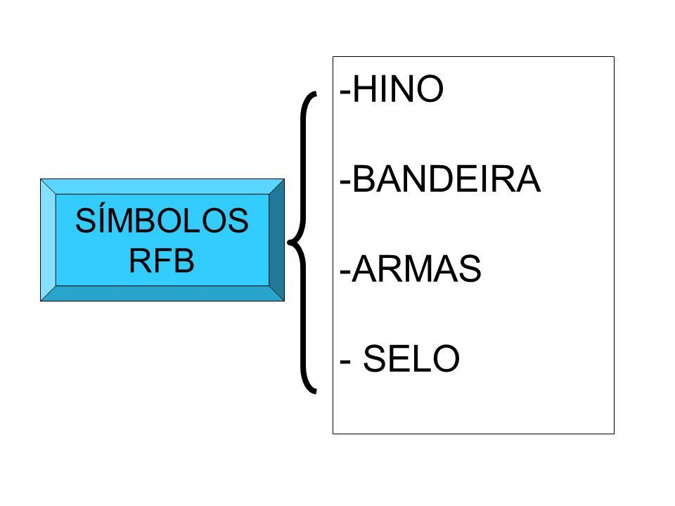 HINO BANDEIRA ARMAS - SELO SÍMBOLOS RFB