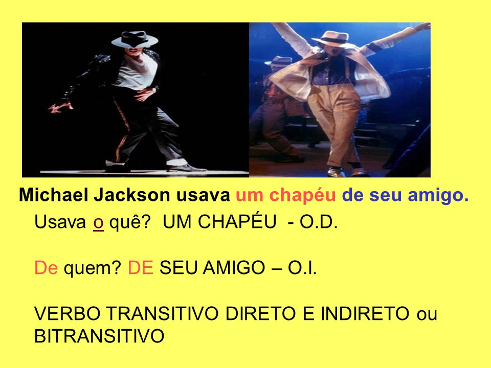 Michael Jackson usava um chapéu de seu amigo.