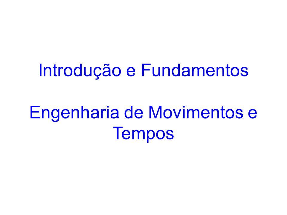 Introdução e Fundamentos Engenharia de Movimentos e Tempos