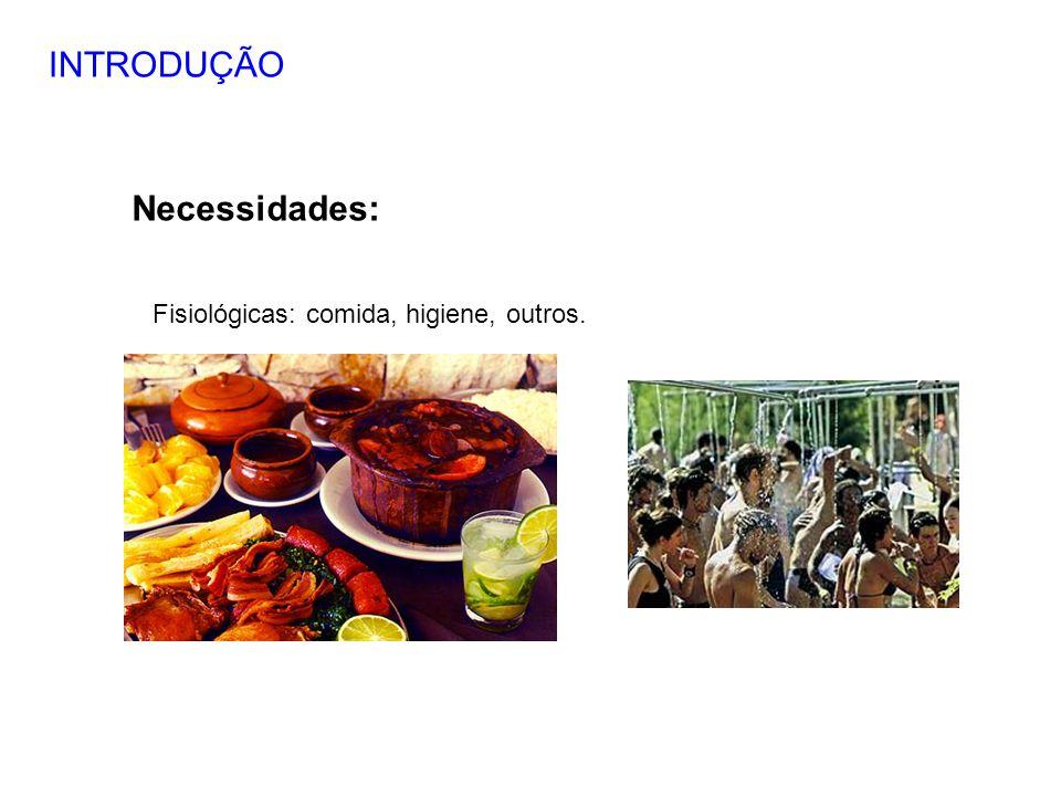 INTRODUÇÃO Necessidades: Fisiológicas: comida, higiene, outros. 5