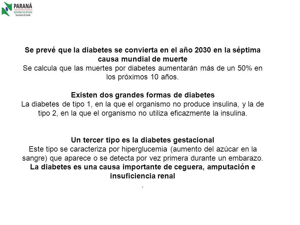 Existen dos grandes formas de diabetes