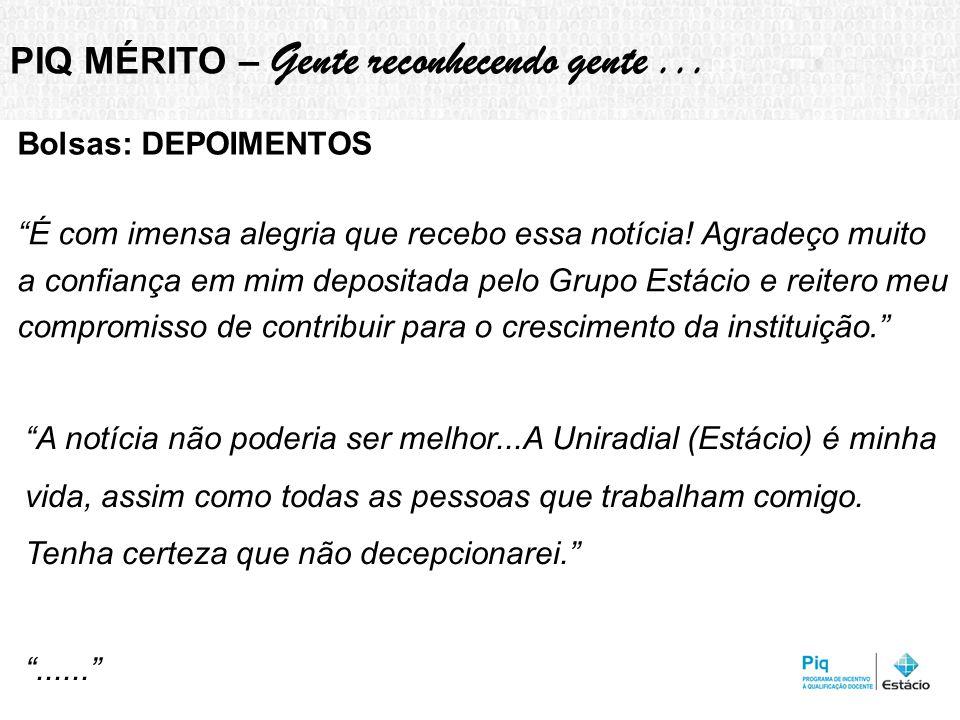 PIQ MÉRITO – Gente reconhecendo gente ...