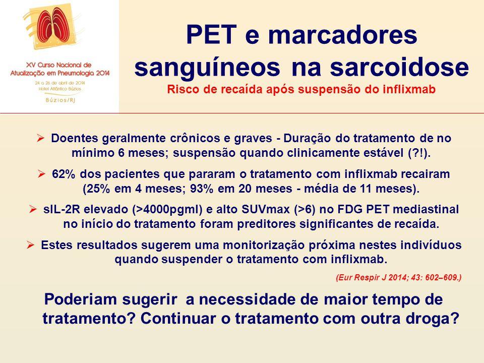PET e marcadores sanguíneos na sarcoidose
