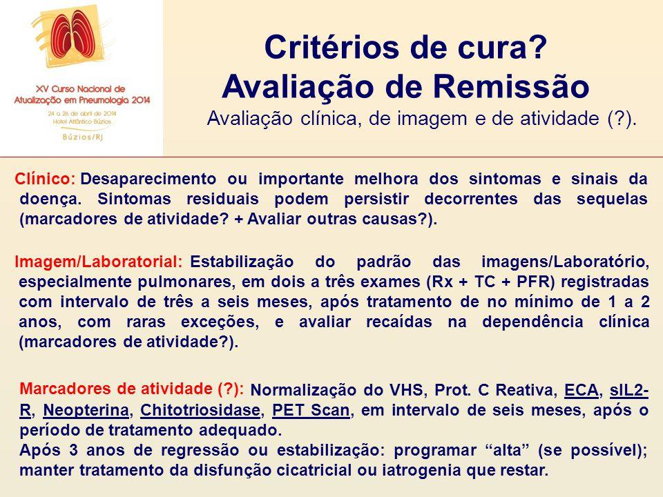 Avaliação clínica, de imagem e de atividade ( ).