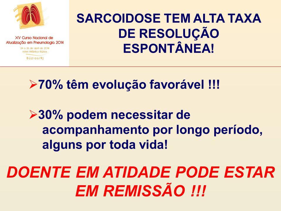 DOENTE EM ATIDADE PODE ESTAR EM REMISSÃO !!!