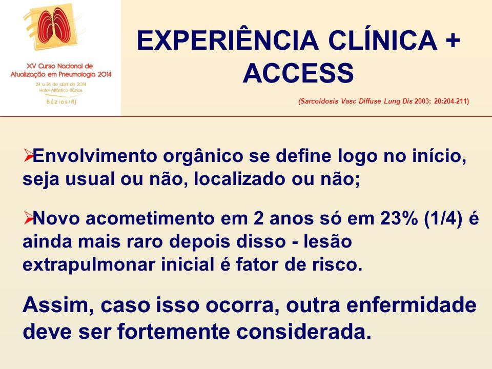 EXPERIÊNCIA CLÍNICA + ACCESS