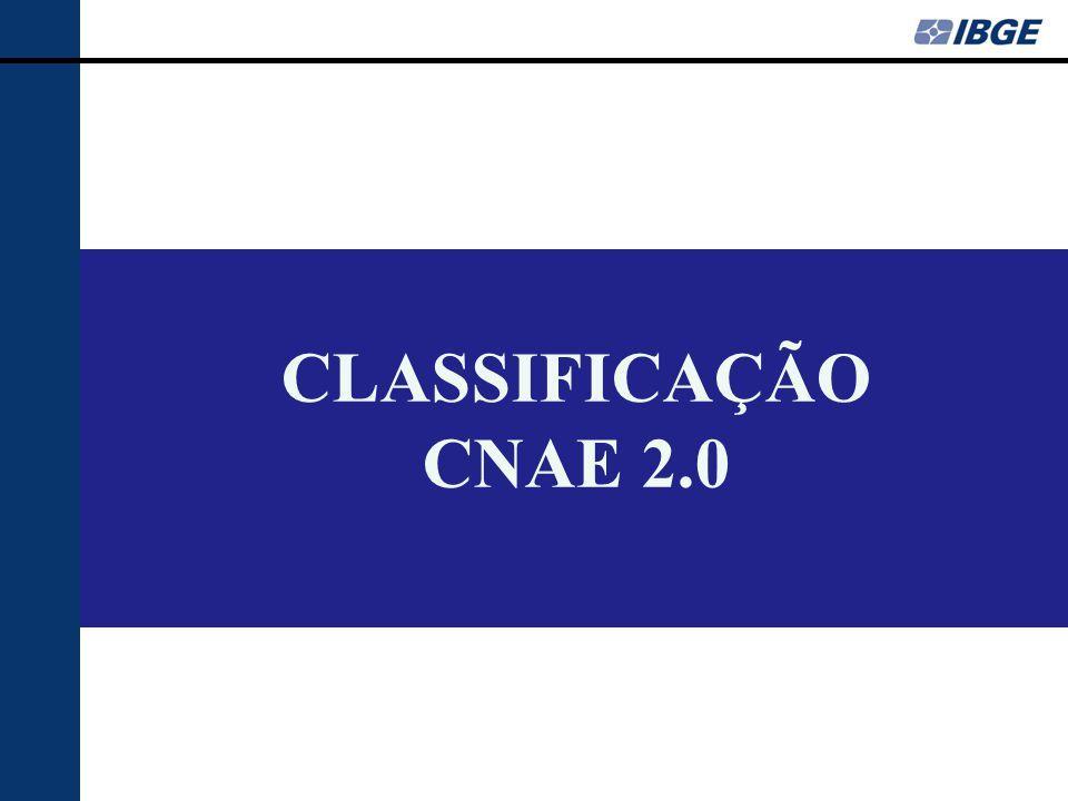 CLASSIFICAÇÃO CNAE 2.0