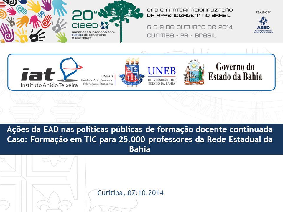 Ações da EAD nas políticas públicas de formação docente continuada