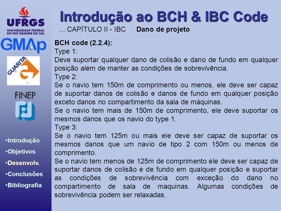 ... CAPÍTULO II - IBC Dano de projeto. BCH code (2.2.4): Type 1: