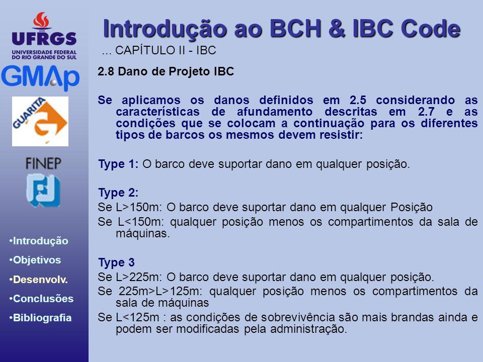 ... CAPÍTULO II - IBC 2.8 Dano de Projeto IBC.
