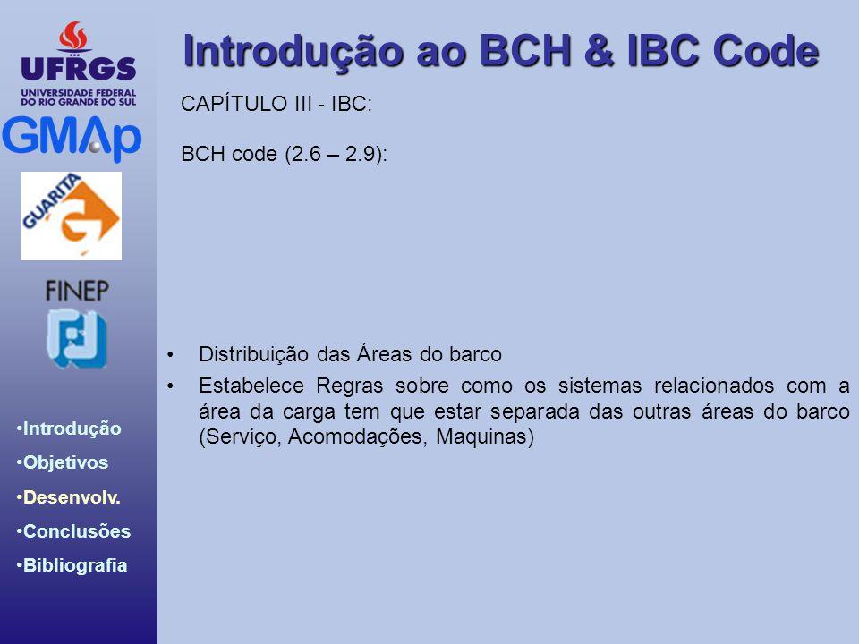 CAPÍTULO III - IBC: BCH code (2.6 – 2.9): Distribuição das Áreas do barco.