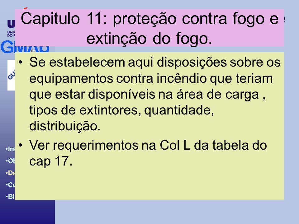 Capitulo 11: proteção contra fogo e extinção do fogo.