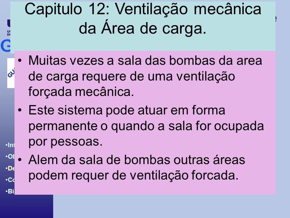 Capitulo 12: Ventilação mecânica da Área de carga.