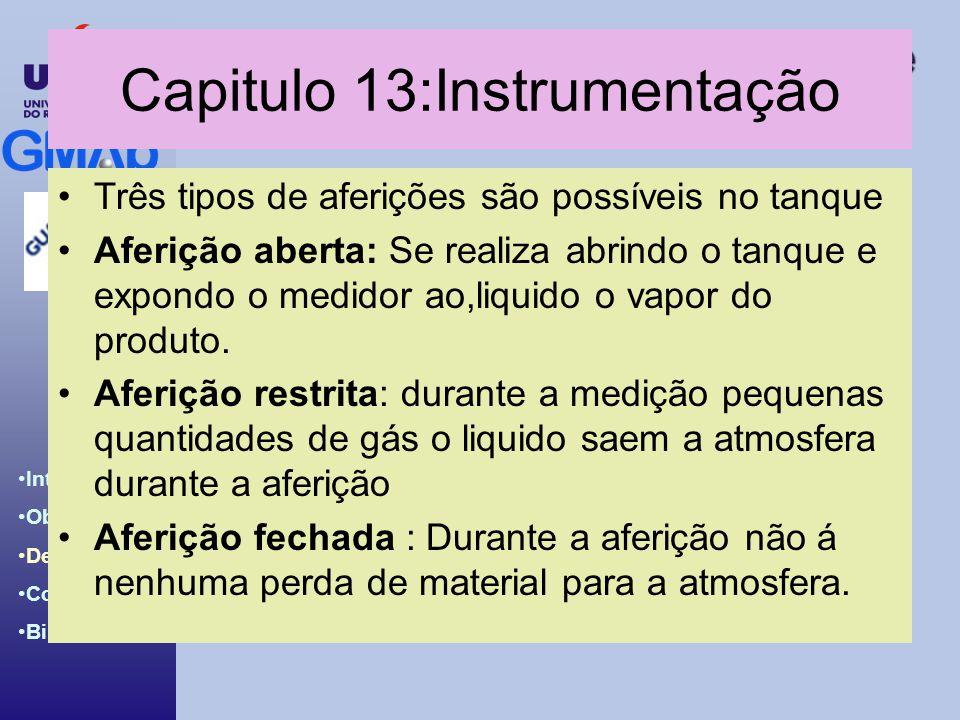 Capitulo 13:Instrumentação