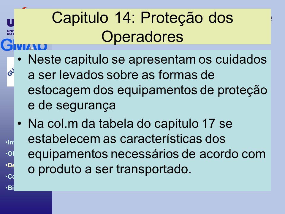 Capitulo 14: Proteção dos Operadores
