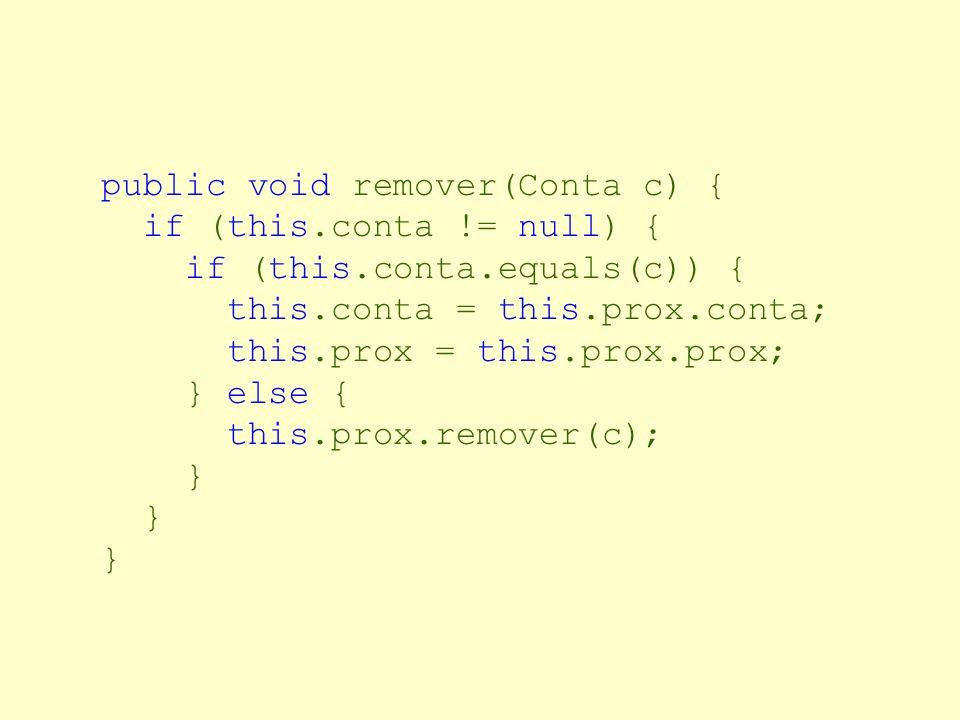 public void remover(Conta c) {