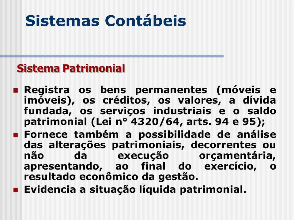 Sistemas Contábeis Sistema Patrimonial