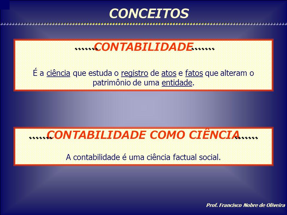 CONCEITOS CONTABILIDADE CONTABILIDADE COMO CIÊNCIA