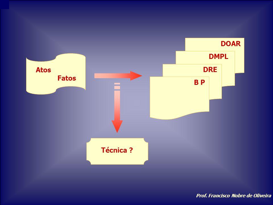 Atos Fatos Técnica B P DRE DMPL DOAR