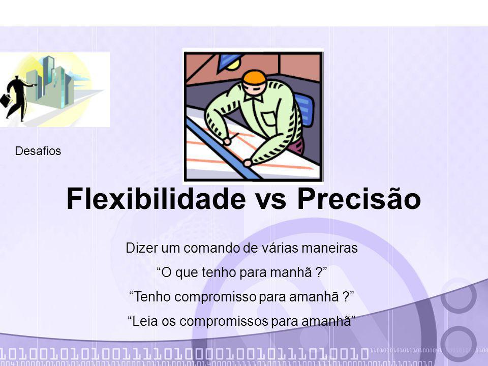 Flexibilidade vs Precisão