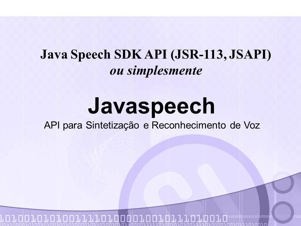 Java Speech SDK API (JSR-113, JSAPI)