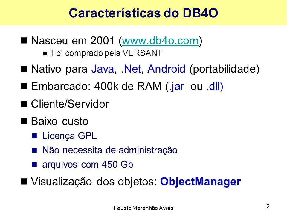 Características do DB4O
