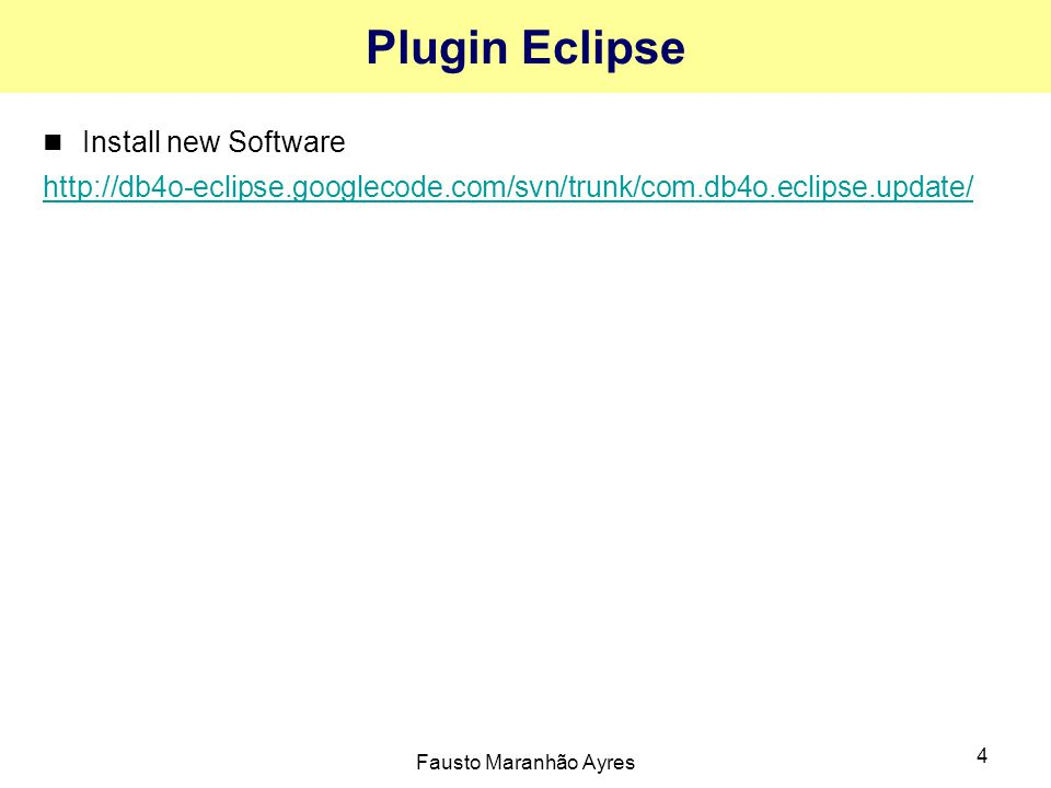 Plugin Eclipse Install new Software