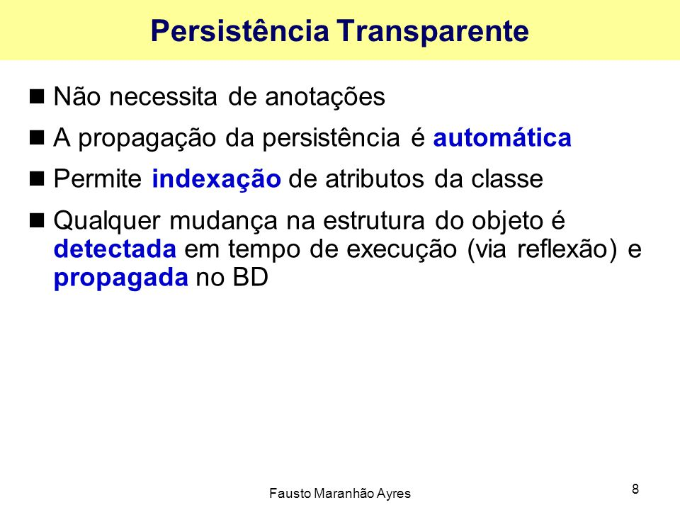Persistência Transparente