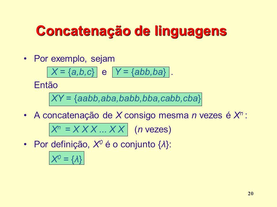 Concatenação de linguagens