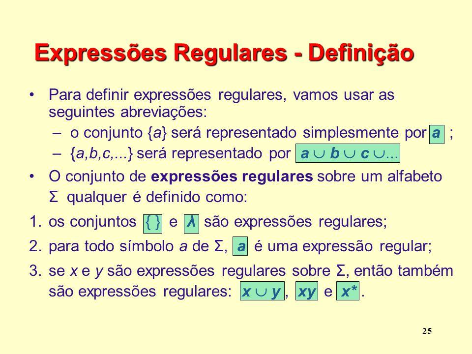 Expressões Regulares - Definição