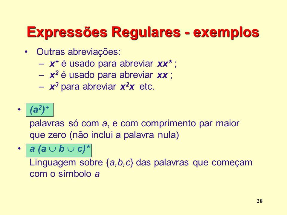 Expressões Regulares - exemplos