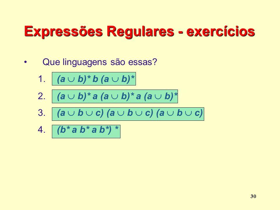 Expressões Regulares - exercícios