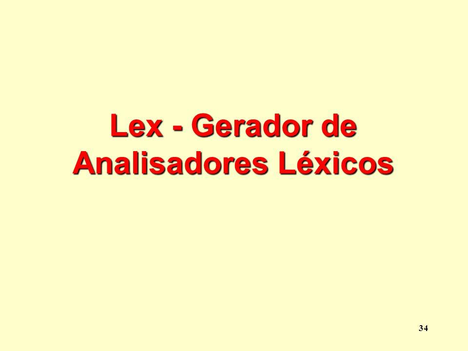 Lex - Gerador de Analisadores Léxicos
