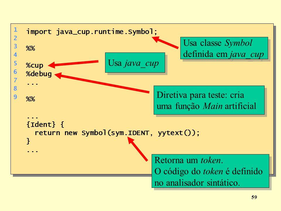 Diretiva para teste: cria uma função Main artificial