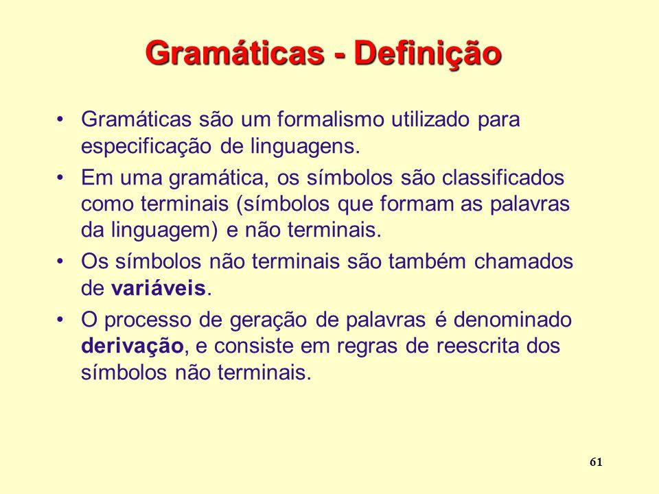 Gramáticas - Definição
