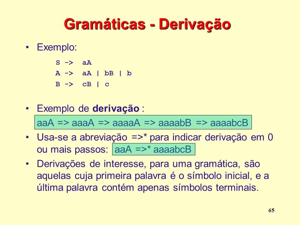 Gramáticas - Derivação