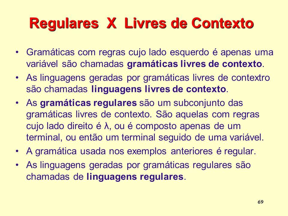 Regulares X Livres de Contexto