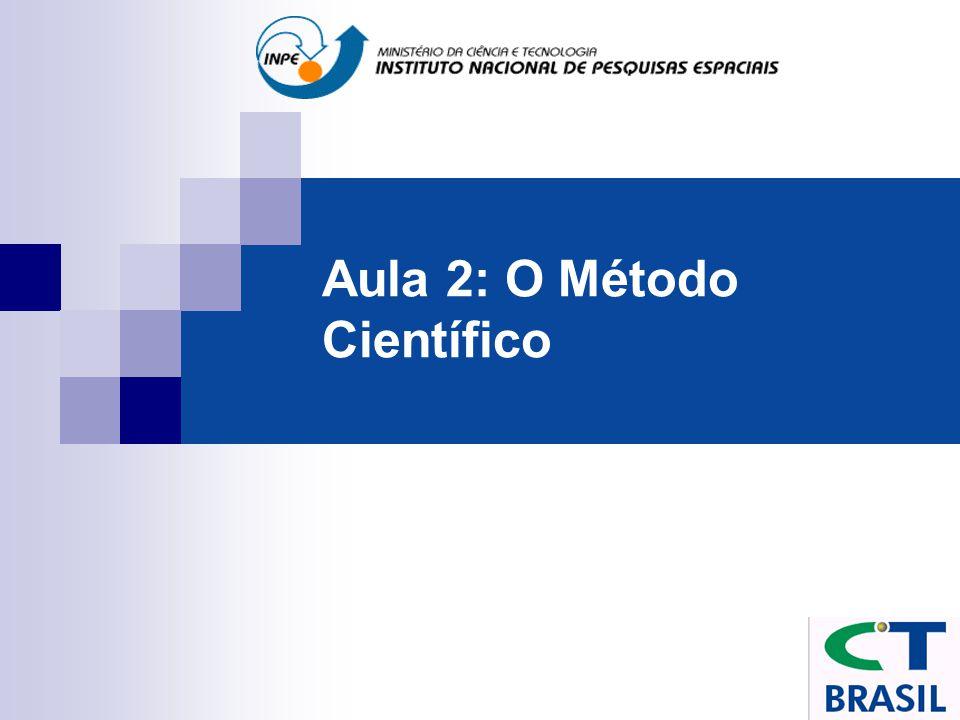 Aula 2: O Método Científico