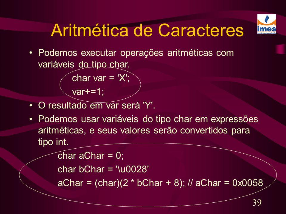 Aritmética de Caracteres